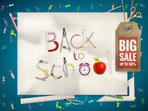 Back to School sale background. EPS 10 Stock Photography
