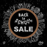 Back to school sale background Stock Image