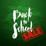 Back to school sale banner design Royalty Free Stock Photos