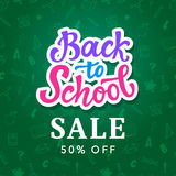 Back to School Sale Banner Template Royalty Free Stock Photos