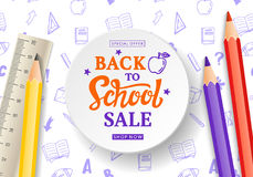 Back to School Sale Banner Stock Image