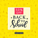 Back to School Sale Banner Template Stock Photography