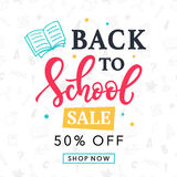 Back to School Sale Banner Template Stock Photo