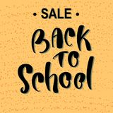 Back to school sale banner vector design vector illustration