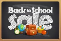 Back to school sale blackboard chalk design Royalty Free Stock Image