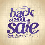 Back to school sale blackboard chalk. Stock Images