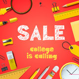 Back to school sale, college is calling Stock Images