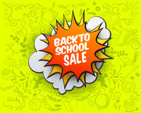 Back to school Sale comic bubble Royalty Free Stock Photo