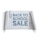 Back to School Sale, curved paper banner Stock Photos
