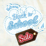 Back to School sale Design. EPS 10 Royalty Free Stock Photo