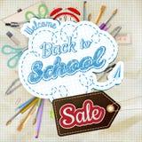 Back to School Sale Design. EPS 10. Back to School Sale Design. Vintage Style Back to School Designs on Light Background. EPS 10 vector file included Stock Illustration