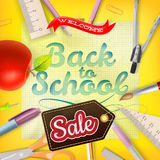 Back to School Sale Design. EPS 10 Royalty Free Stock Image