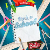 Back to School Sale Design. EPS 10 Stock Image