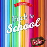 Back to School Sale Design. EPS 10 Stock Photos