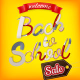 Back to School Sale Design. EPS 10 Stock Photo