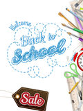 Back to School Sale. EPS 10 Stock Photo
