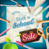 Back to School Sale. EPS 10 Stock Images