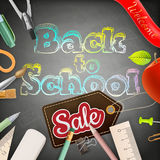 Back to school sale. EPS 10 Stock Photos