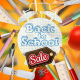 Back to school Sale. EPS 10 Royalty Free Stock Photos