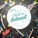 Back to school Sale. EPS 10 Royalty Free Stock Photo