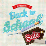 Back to School Sale. EPS 10. Back to School Sale. Typographic Design. Trendy vintage style background. EPS 10 vector file included Vector Illustration