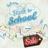 Back to School Sale. EPS 10 Royalty Free Stock Image