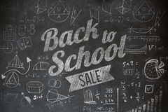 Composite image of back to school sale message Royalty Free Stock Image