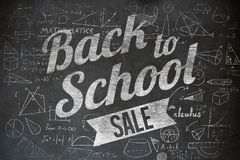 Composite image of back to school sale message Stock Image