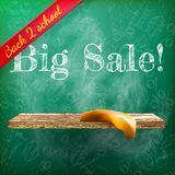 Back to school sale. plus EPS10 Royalty Free Stock Photo