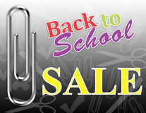 Back to School Sale Poster Royalty Free Stock Photos