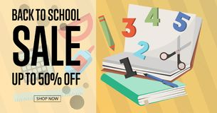 Back to school sale poster Stock Photos
