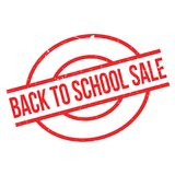 Back To School Sale rubber stamp Royalty Free Stock Image