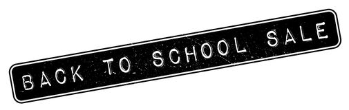 Back To School Sale rubber stamp Royalty Free Stock Photos