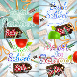 Back to School Sale Set. EPS 10 Royalty Free Stock Image