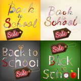 Back to School Sale Set. EPS 10 Stock Photo