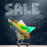 Back to school sale. Stock Photos