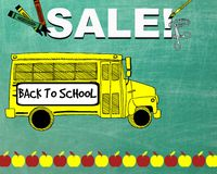 Back to School Sale Sign Royalty Free Stock Images