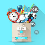 Back to school sale Royalty Free Stock Photo