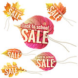Back to School Sale tags. EPS 10 Royalty Free Stock Image