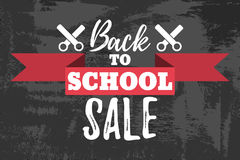 Back to School Sale Typographic. Back to School Sale Typographic - Vintage Style Back to School Royalty Free Stock Image