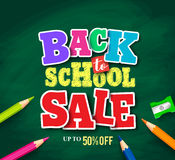 Back to school sale vector banner design for store promotion Stock Image