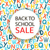 Back to school Sale. Vector illustration Royalty Free Stock Images