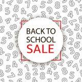 Back to school Sale. Vector illustration Stock Photos