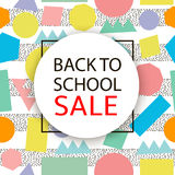 Back to school Sale. Royalty Free Stock Photos