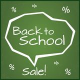 Back to school sale, vector illustration. Eps10. Royalty Free Stock Image