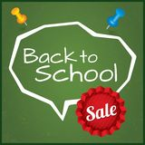 Back to school sale, vector illustration. Eps10. Royalty Free Stock Photo