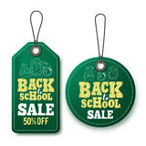 Back to school sale vector price tags and labels template Royalty Free Stock Images