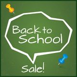 Back to school sale, vector. Speech Bubble. Stock Photos