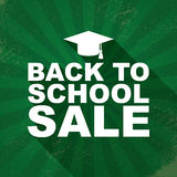 Back to school sales or discounts poster with Stock Photos