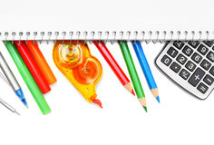 Back to school. School accessories. Stock Photos